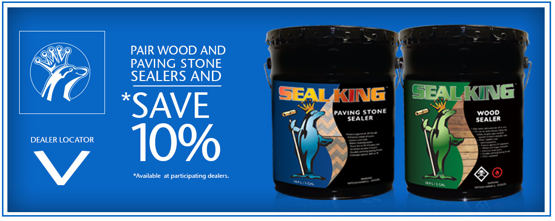 Pair Wood and Paving Stone Sealers and save 10%